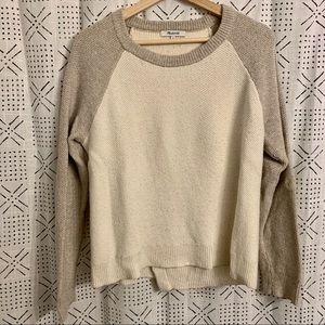 Madewell Waffle Knit Open Back Sweater